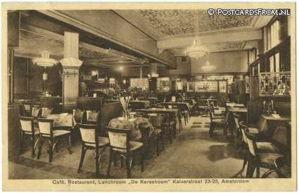 Amsterdam, Cafe, Restaurant, Lunchroom 'De Karseboom', Kalverstraat 23-25