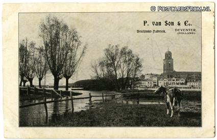 Deventer, Panorama. P. van Son en Co. Drukinkt-Fabriek