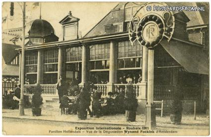 Amsterdam, Expo Roubaix 1911- Pav. Hollandais. Degustion Wynand Fockink